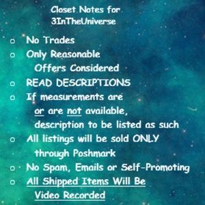 Closet Notes